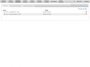 Übersicht der angelegte Collections, welche aus verschiedenen Dateien bestehen und für Playlists innerhalb von PECS genutzt werden können - von der MIDAN SOFTWARE GmbH.