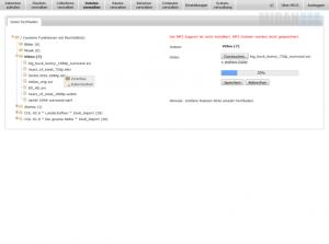 Die Dateiverwaltung und der Upload einer Video Datei in PECS inklusive Fortschrittsbalken - von der MIDAN SOFTWARE GmbH.