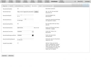 Jedes PECS kann einen RSS Feed als Newsticker am unteren Bildschirmrand einblenden - von der MIDAN SOFTWARE GmbH.