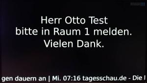 """Der Aufruf von """"Herrn Otto Test"""" mittels PECS - von der MIDAN SOFTWARE GmbH."""